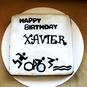 Triathlon cake for Xavier Cakes Pinterest Triathlon Cake and