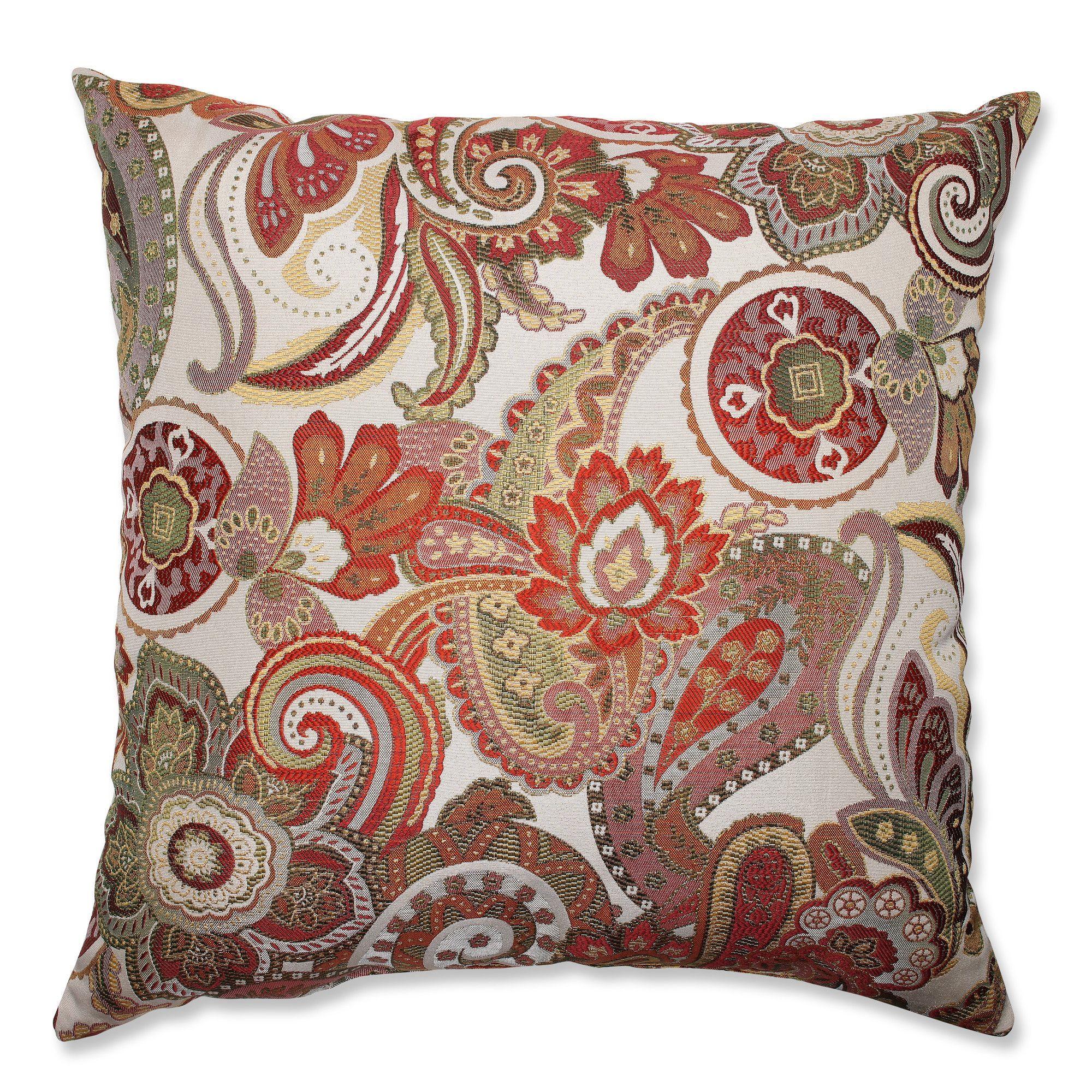Crazy Rosewood Floor Pillow