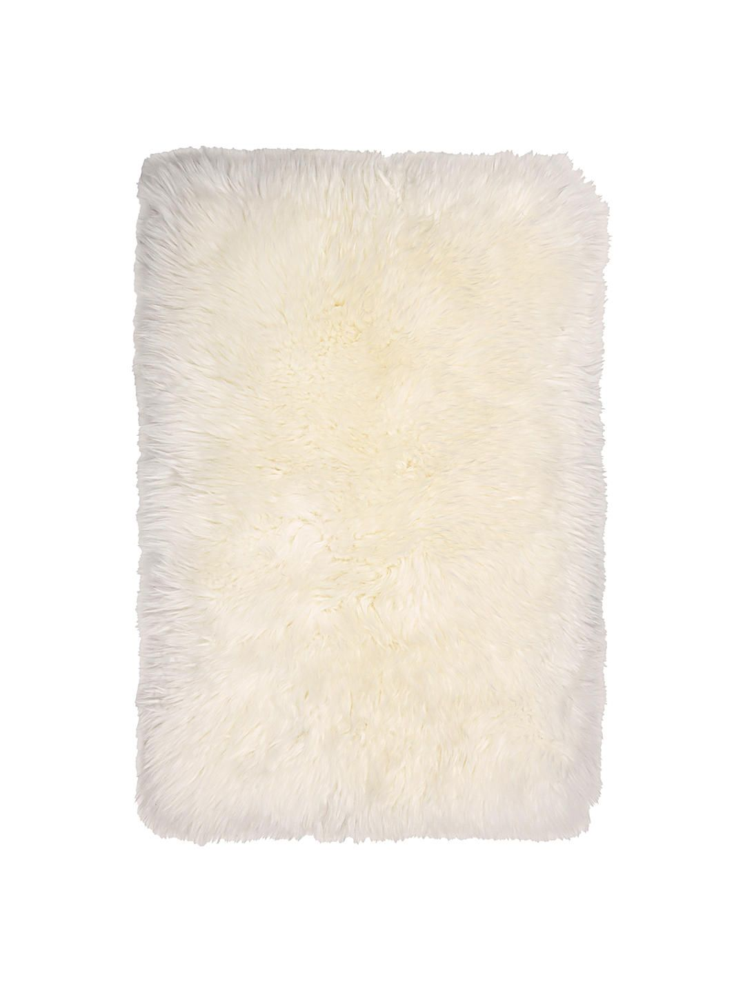 Quilted Sheepskin Rug Ivory