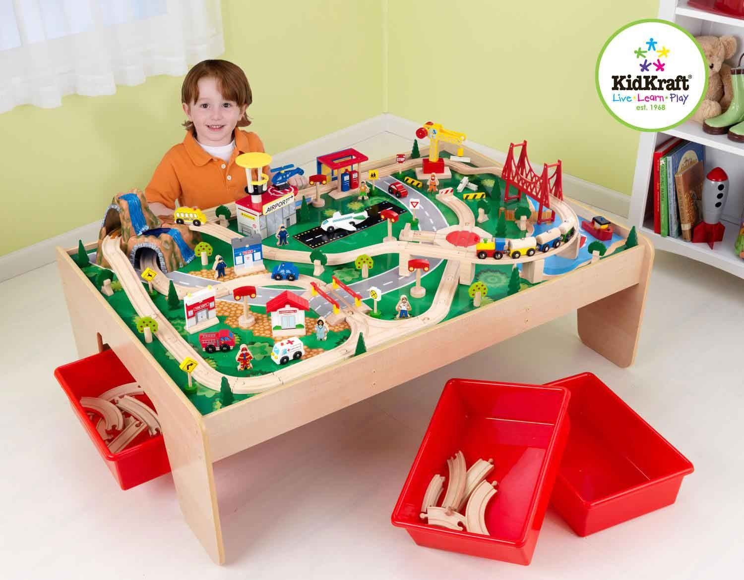 KidKraft Waterfall Mountain Train Set & Table - Recommended Age ...