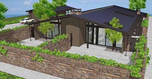 House · historic mid century modern house plans