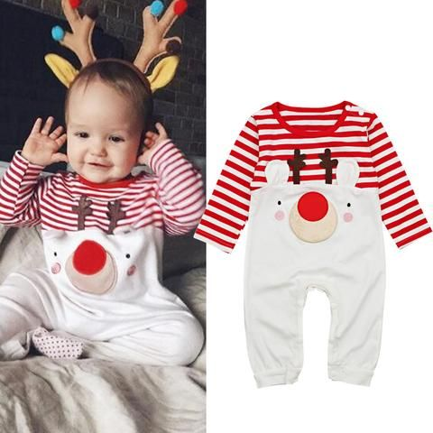65f5d9a39 Autumn and Winter Baby Romper 2018 New Santa Claus Boy Girls Baby ...