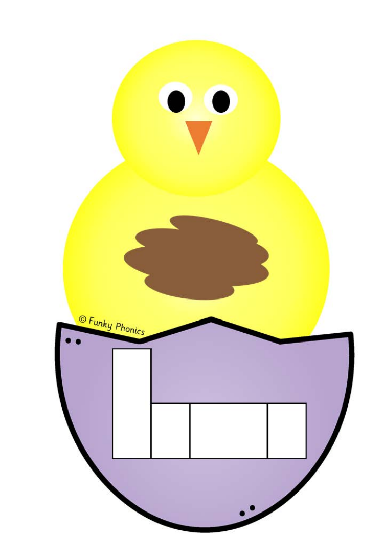 Phonics Phase 4 Easter/Spring Phoneme Frames (Chick and Egg ...
