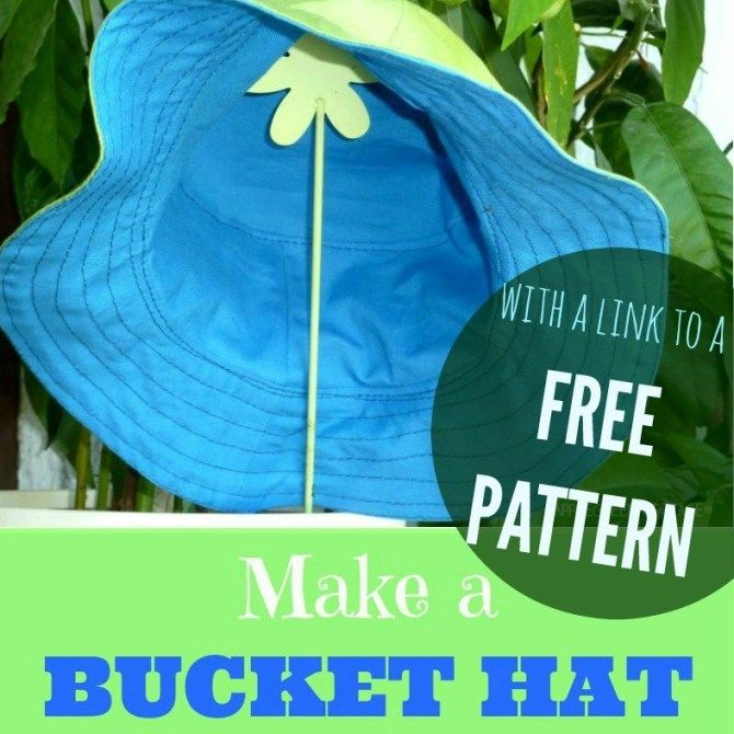 Free bucket hat pattern  An easy and free tutorial to make the cutest bucket hat for your kid A super cute sewing project you must try out