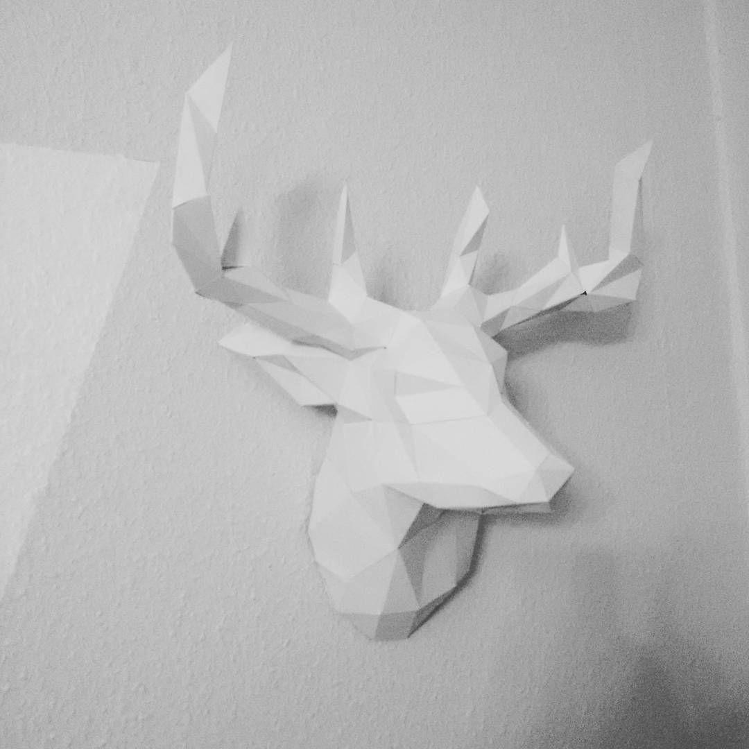 Papershape Paper Deer Deerhead Origami Trophy Art Decoration