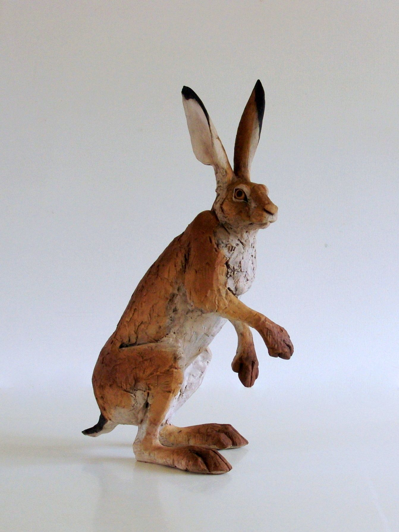 """Nichola Theakston """"Hunched hare"""" Rabbit sculpture, Bunny"""