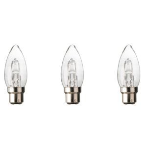 Diall B22 19w Halogen Dimmable Candle Light Bulb Pack Of 3 Light Bulb Candle Light Bulb Bulb