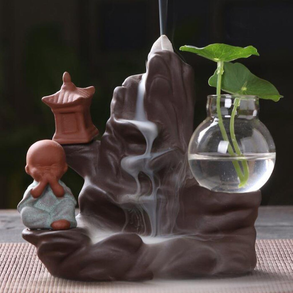 Little Monk Arch Backflow Incense Burner - Various styles
