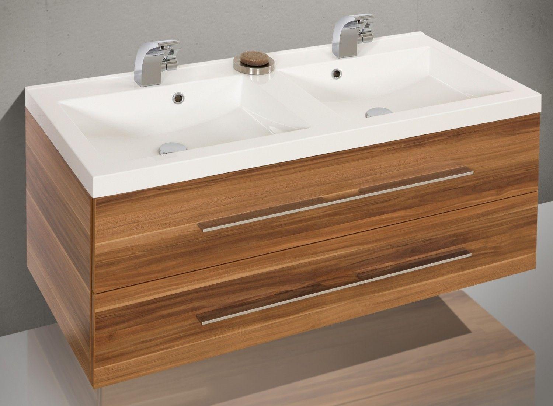 Badmöbel Set mit 120 cm Doppelwaschtisch 578 | Badezimmer ...