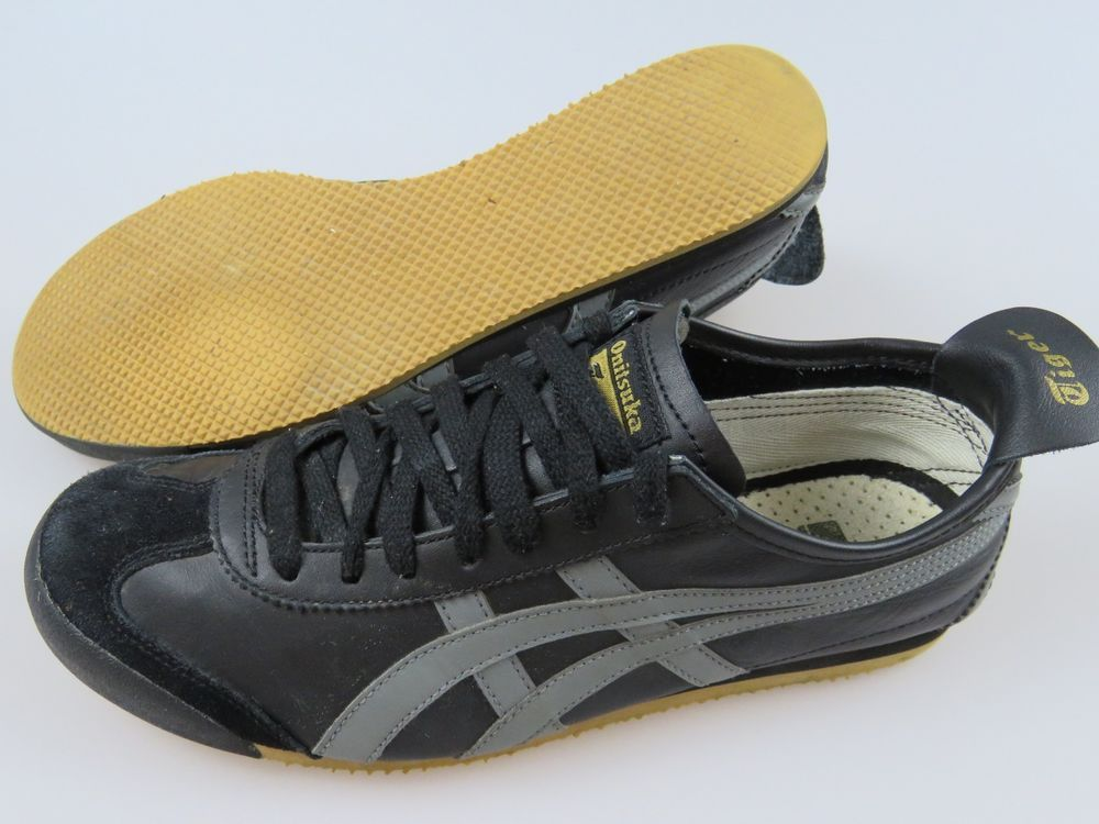 best website d9742 a236b ASICS ONITSUKA Tiger HL202 Black Leather Mustard Sole Men's ...