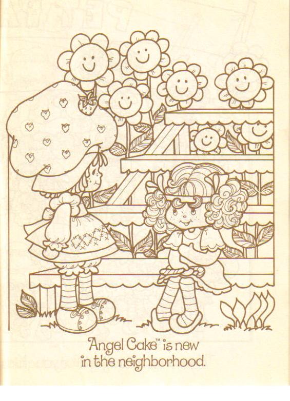 Erdbeer-Shortcake-Gartenarbeit in 2020 | Cute coloring pages ... | 782x565