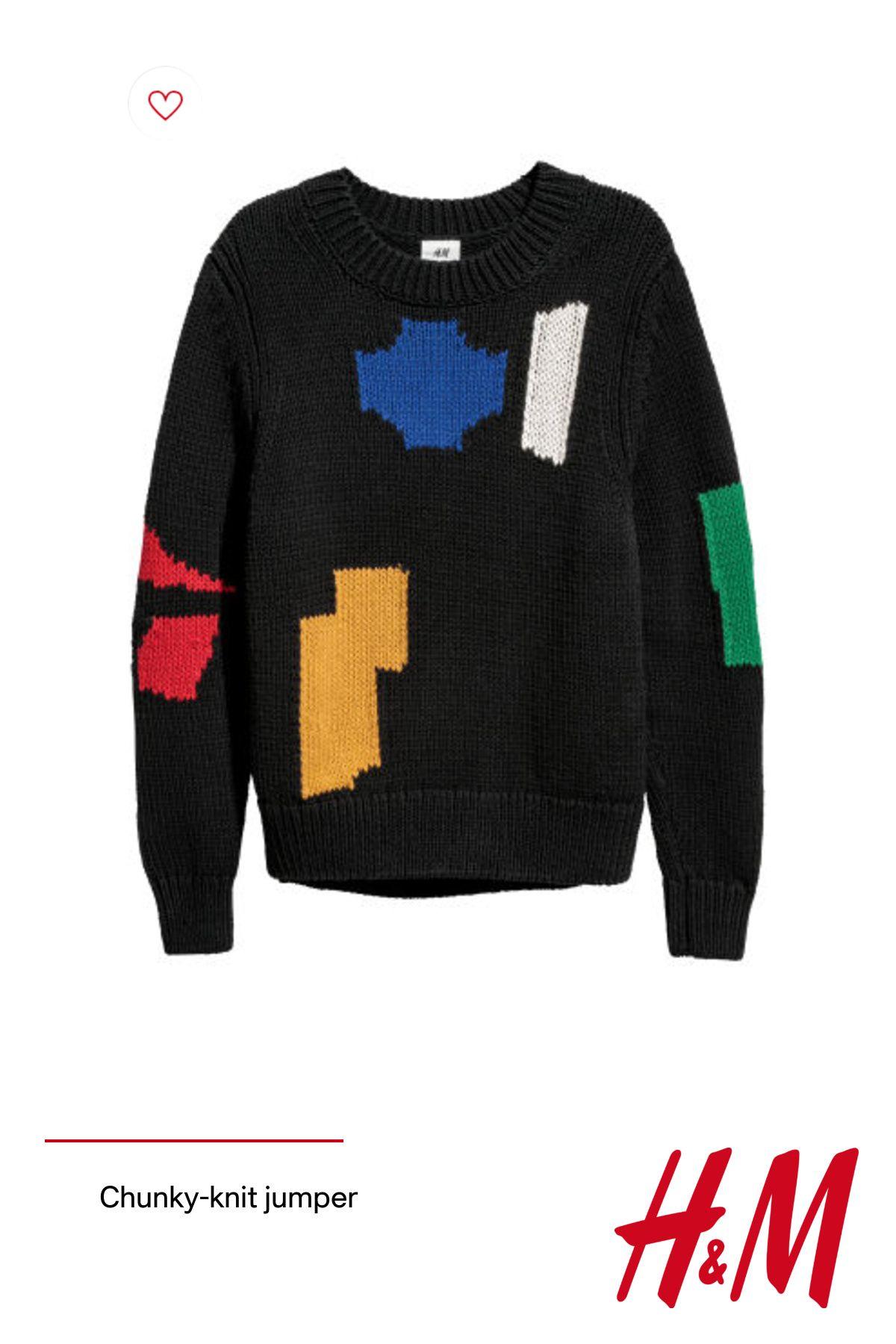 Chunky-knit jumper
