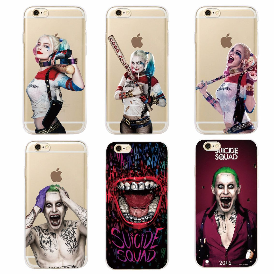 Suicide Squad Harley Quinn Jared Leto Joker Comics Movie Soft Phone Case  Coque Fundas For iPhone 7 7Plus 6 6S 6Plus 5 5S SAMSUNG 8e29d27984f9