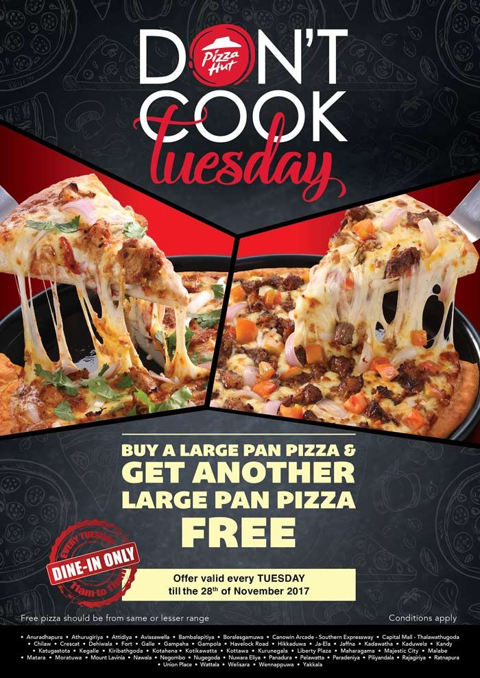 Don T Cook Tuesday With Pizza Hut Pizza Hut Sri Lanka E Mail Advertising Pinterest