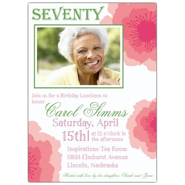 Awesome 70th Birthday Party Invitations Wording