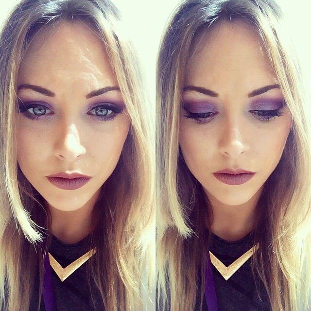 Purple  #makeup #makeupartist #motd #urbandecay #urbanette #urbandecayhenryst #electricpalette #nakedskin #purple #love