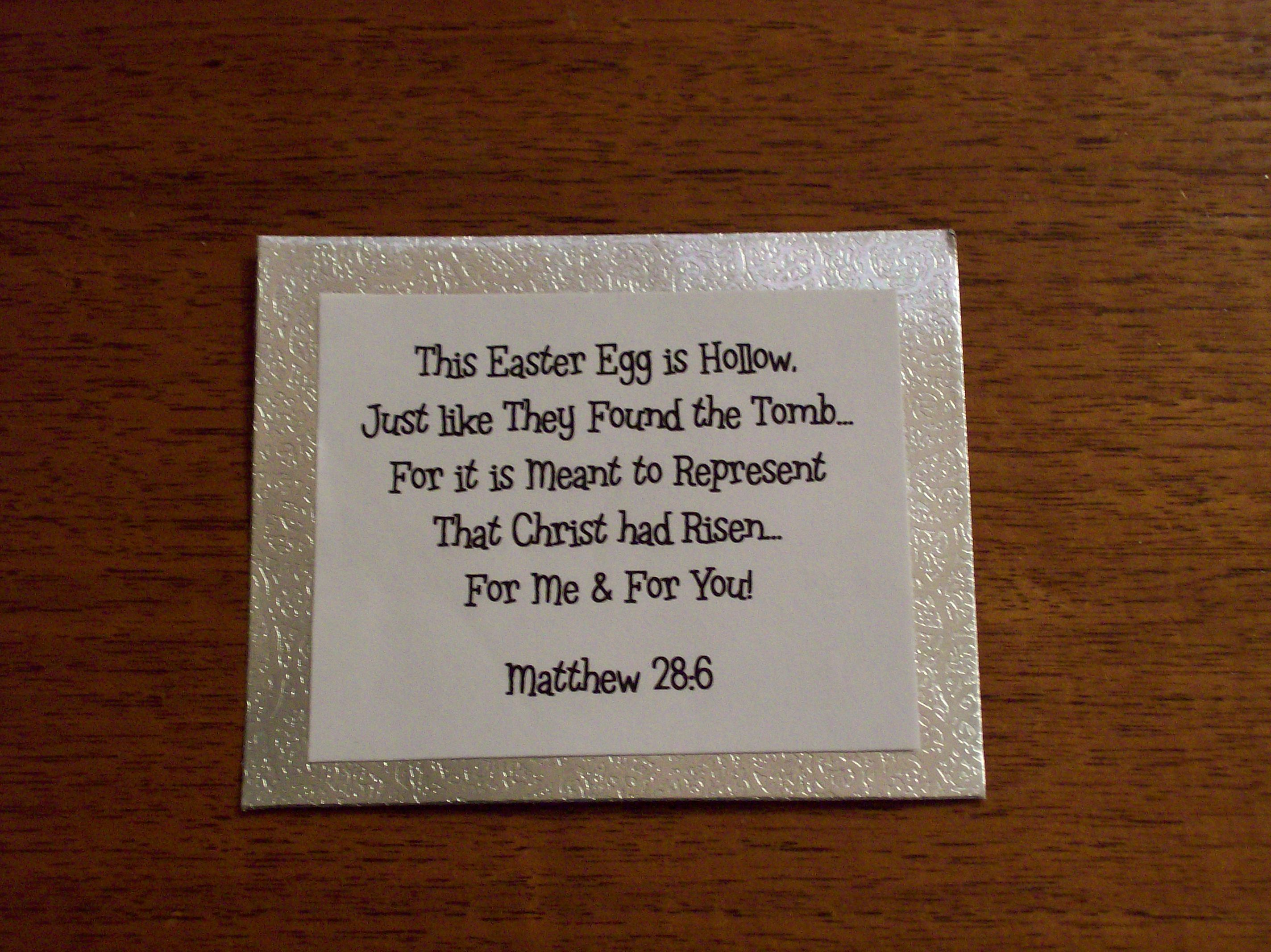 Great to give with a plastic egg for visit teaching im a mormon these easter poems are available in many places including books and internet which can be searched and then can be read at family reunions negle Images