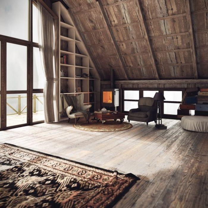 Wohnen im landhausstil modernes haus mit rustikalem charme bm allg u haus pinterest - Dachwohnung gestalten ...