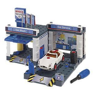 first build your own toy garage and car wash then service your take apart car in it