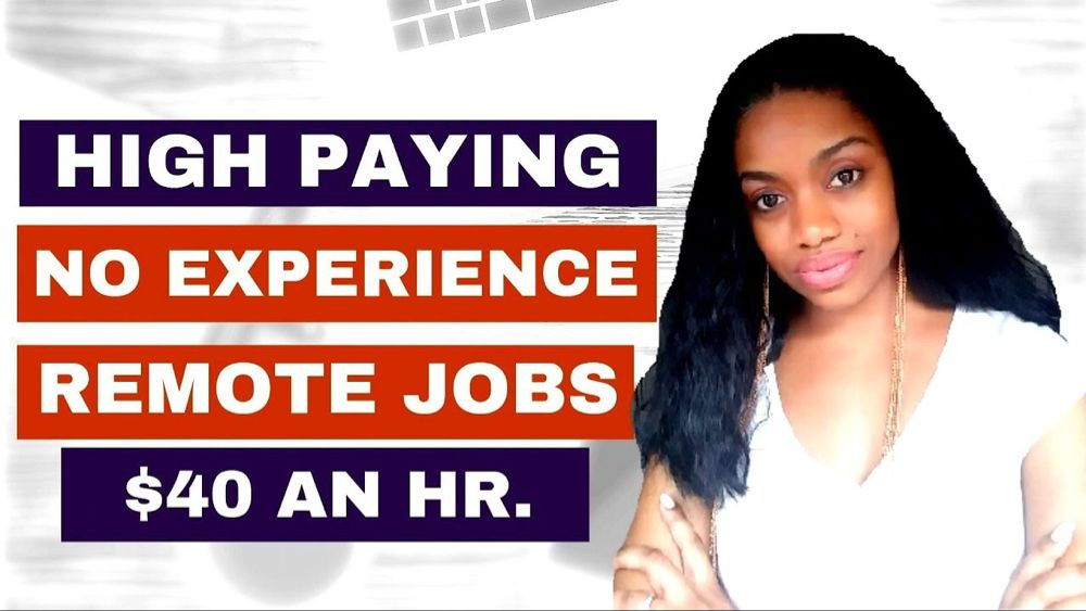 6 High Paying Work From Home Jobs.Up To 40 an hr! No
