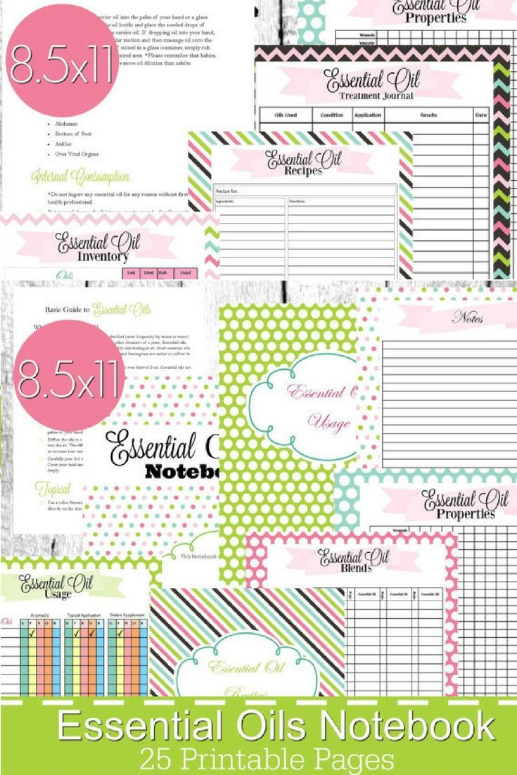 This essential oil printable notebook is full of guides charts and forms for all your oiling needs  total pdf  also rh pinterest