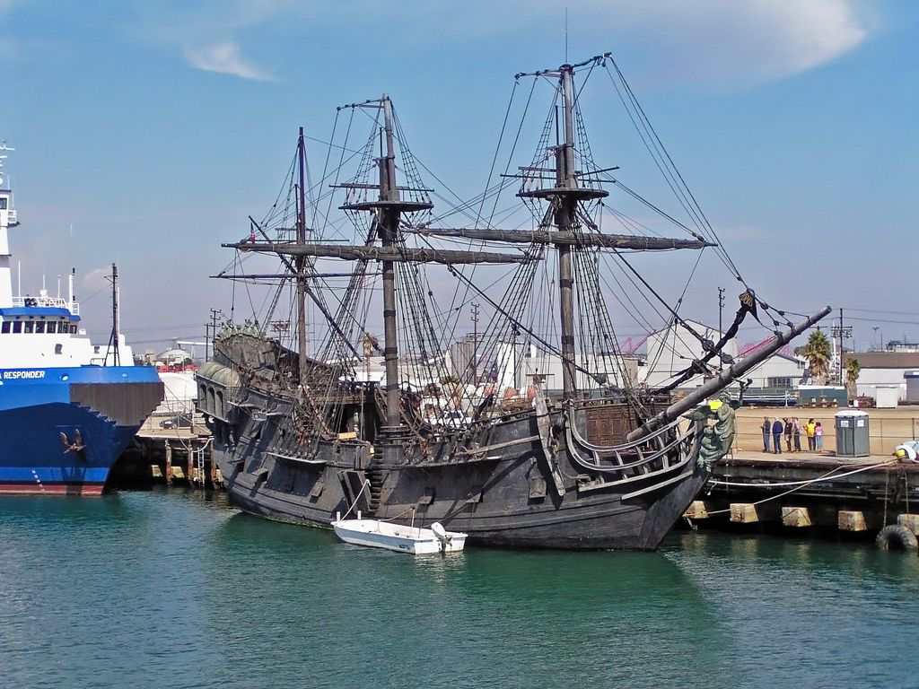 The Black Pearl At Dockside In Bayou La Batre Alabama Ship