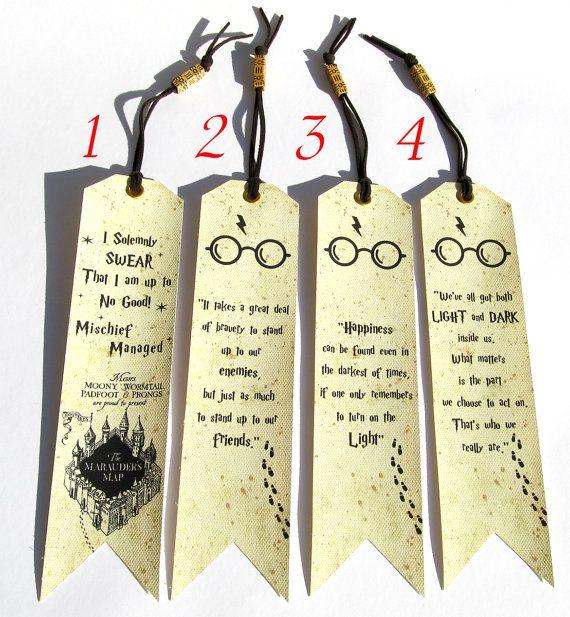 Harry Potter Marque Pages 4 Au Choix Les Citations De Harry