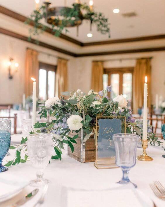 Romantic Dusty Blue March Wedding Color Ideas