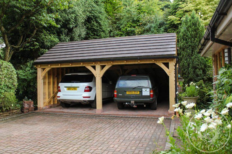 Radnor Oak Double Garage Oak Frame Building Oak