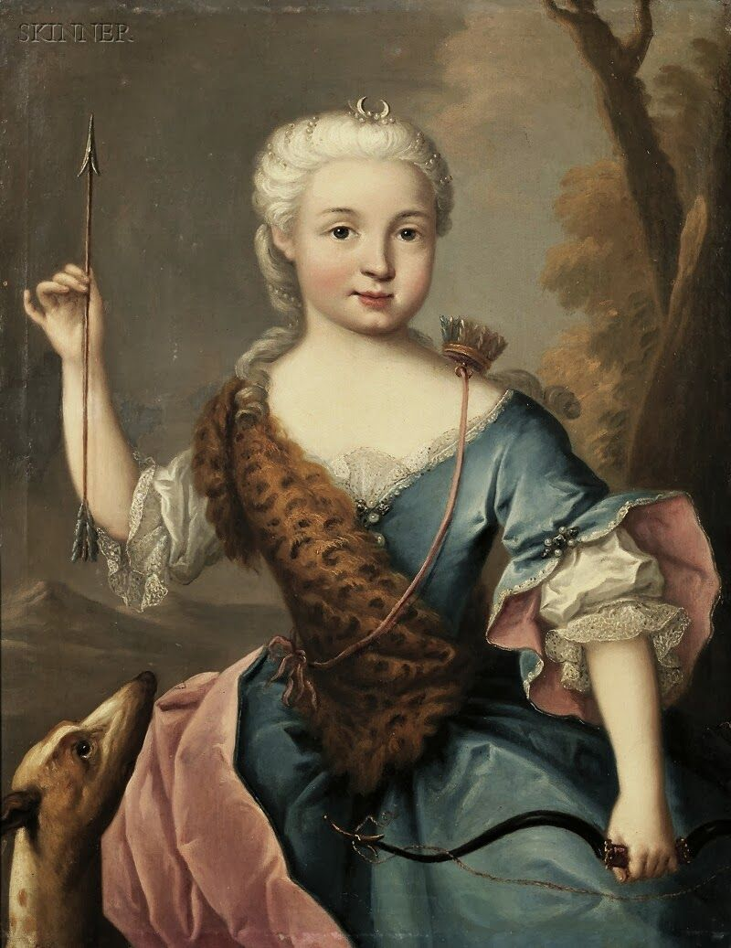 18th century portrait of a w as artemis 18th century 18th century portrait of a w as artemis