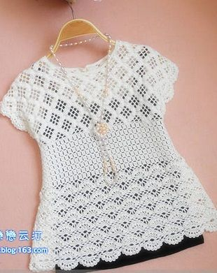 f2355f4bc Blusa Crochê | White Crochet blouses,vest,tunica | Crochê, Blusas ...