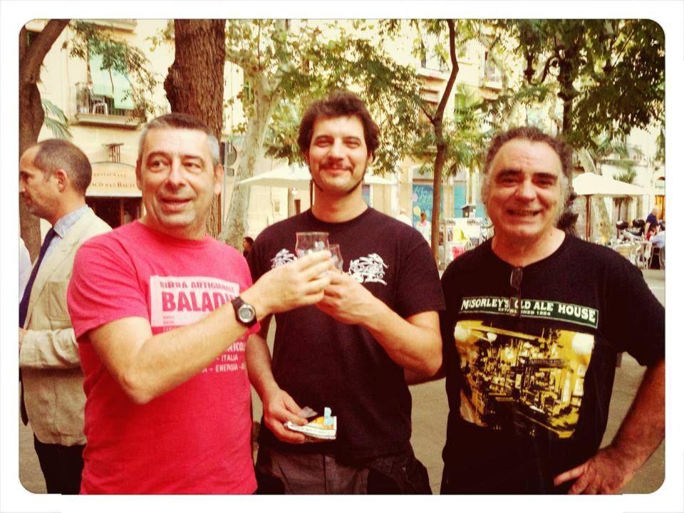 Lorenzo Dabove Kuaska, Guzmás Fernández from Cerveza Guineu & Carles from Ales Agullons