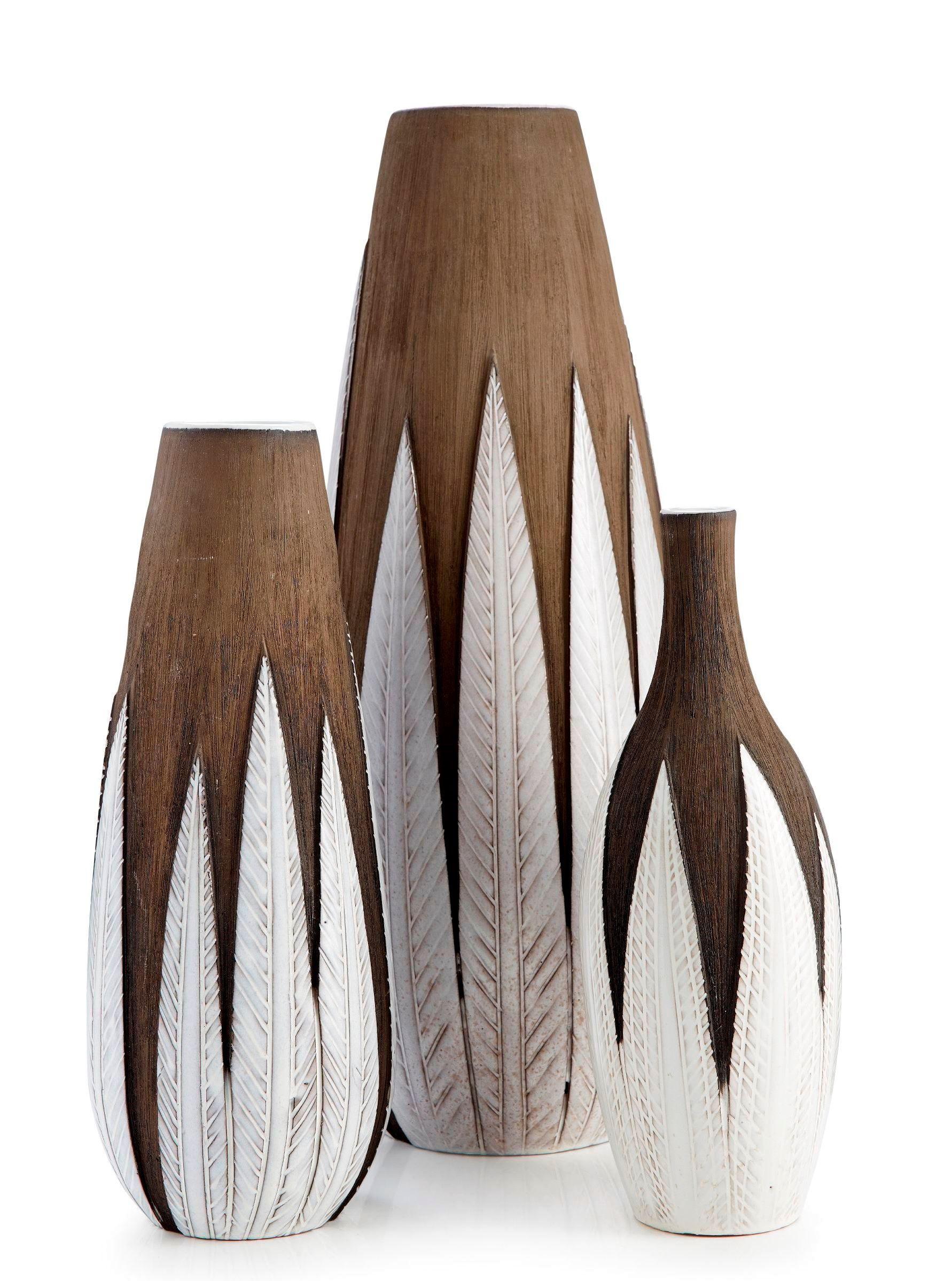 ANNA-LISA THOMSON, 'Paprika' vases,  Uppsala-Ekeby, 1948