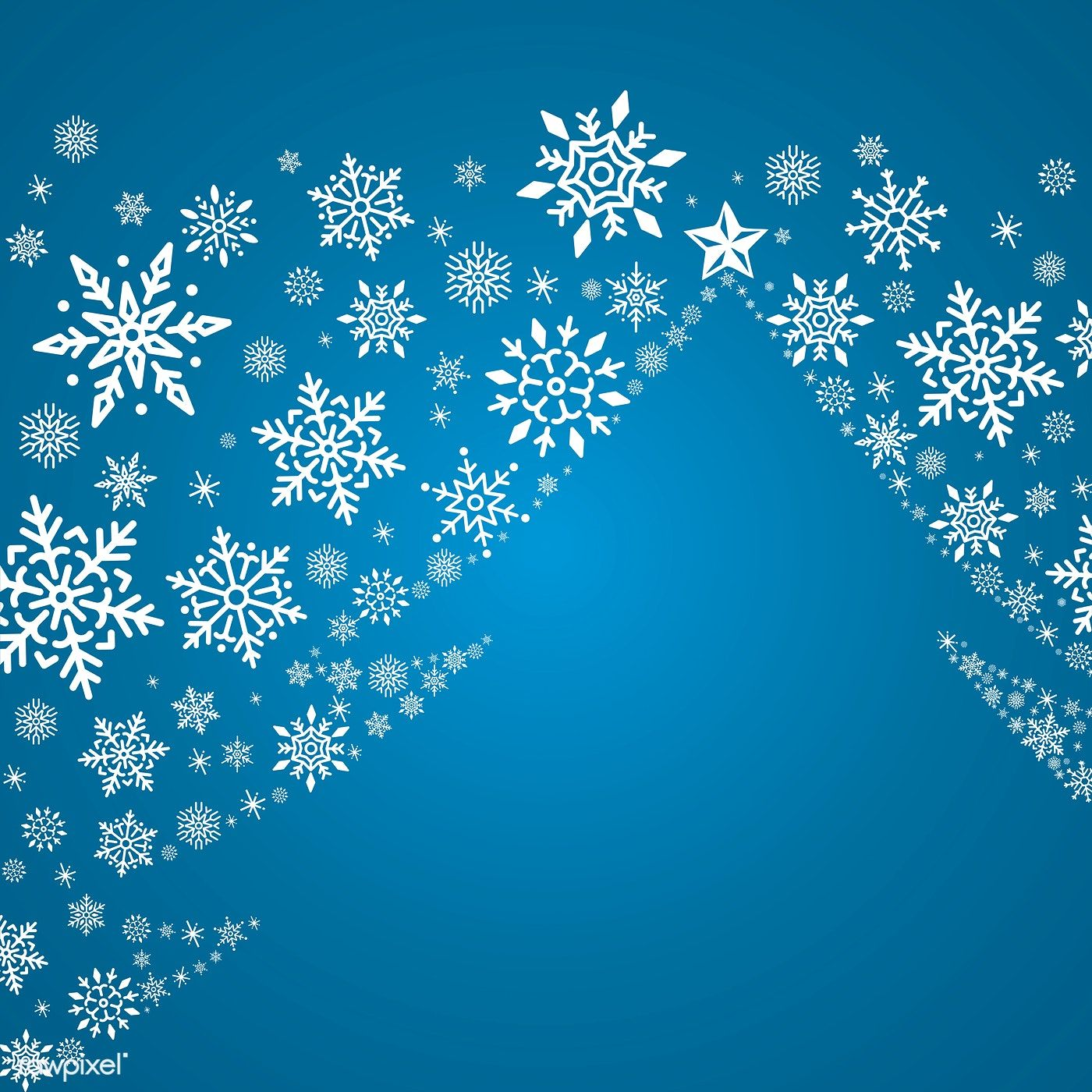 Blue Christmas Winter Holiday Background With Snowflake And Christmas Tree Vector Free Image By R Christmas Tree Background Holiday Background Blue Christmas