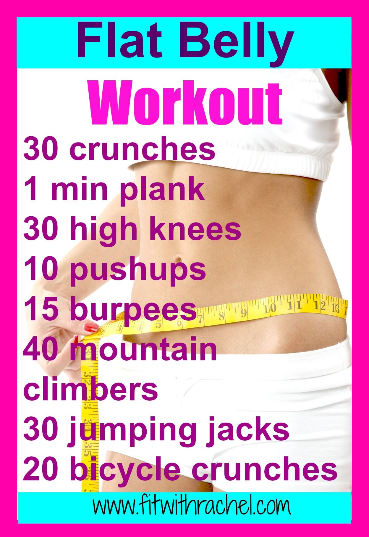 Flat Belly Workout | Flat belly workout, Flat belly and ...