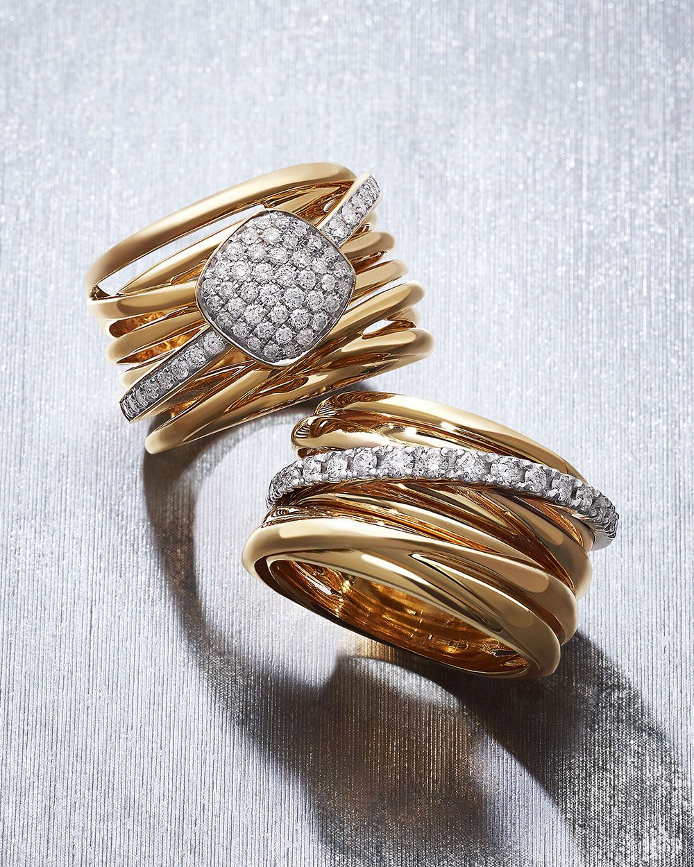 A vision in polished gold pieces cast with glittering