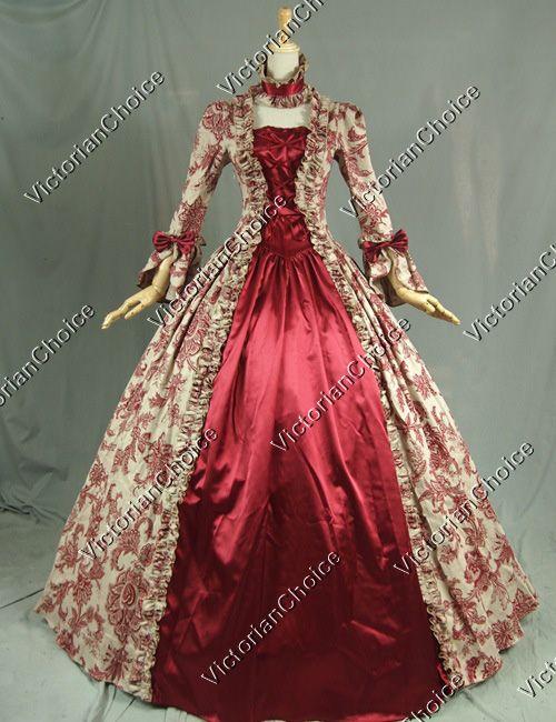 Georgian Victorian Gothic Dress Ball Gown Wedding Reenactment ...