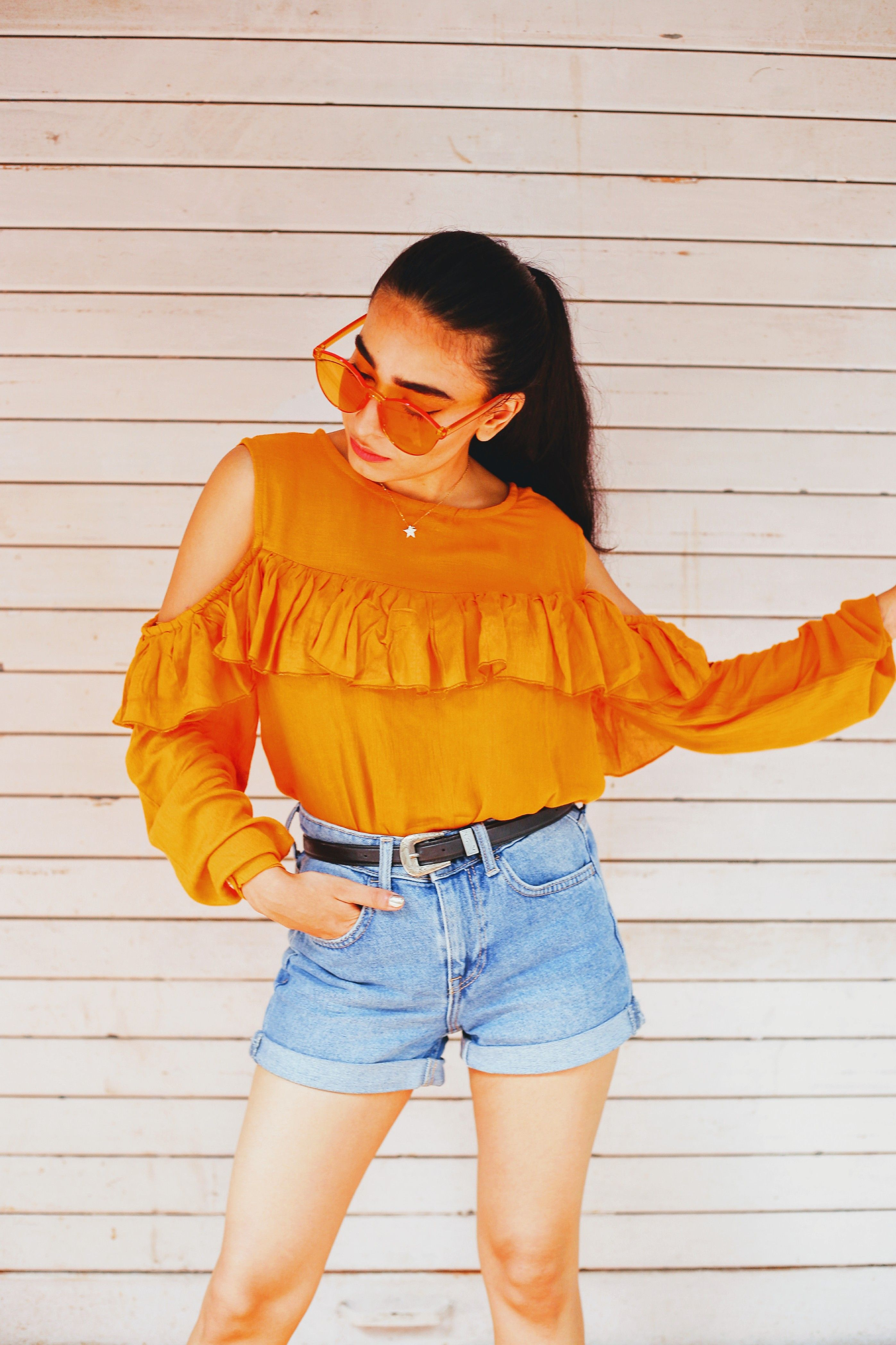 25ab026e6a21 candy sunglasses, yellow shades, yellow sunnies, bellofox sunglasses,  yellow fever, mustard top, casual street style, indian fashion blogger,  street style, ...