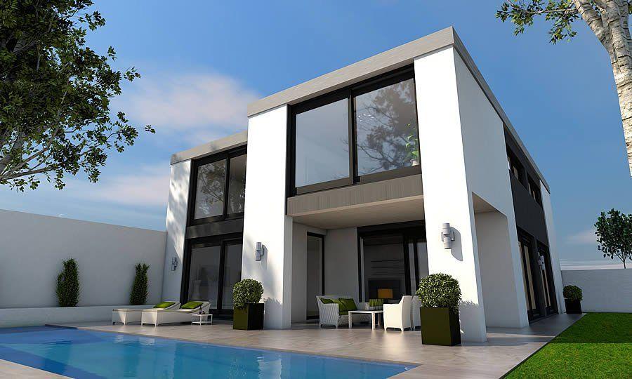 Hausbau moderner baustil  Bauhaus mit Flachdach | Häuser Flachdach | Pinterest ...