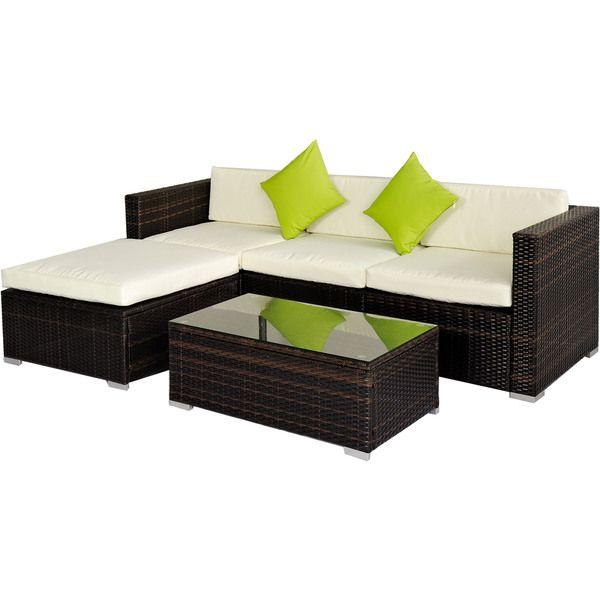 BroyerK 5-piece Rattan Outdoor Patio Furniture Set - Overstock ...