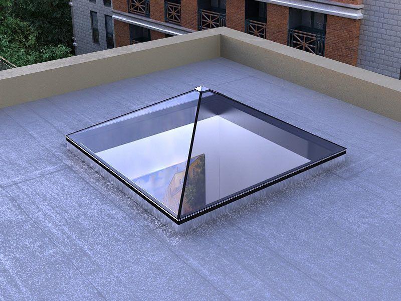 Pyramid Shaped Standardized Glass Skylight Bellwether
