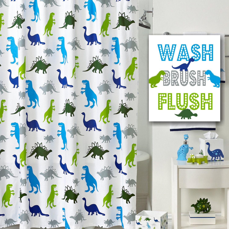 Jawo Funny Creative Kids Dinosaur Shower Curtain In 2020 Kids