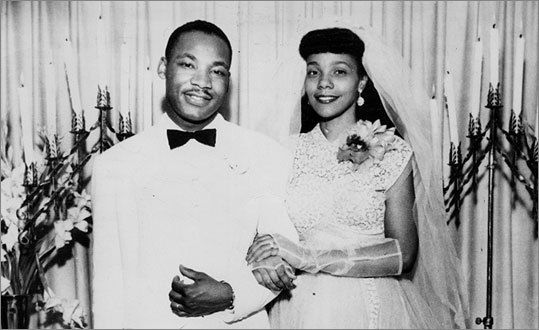 The wedding day of Martin Luther King and Coretta
