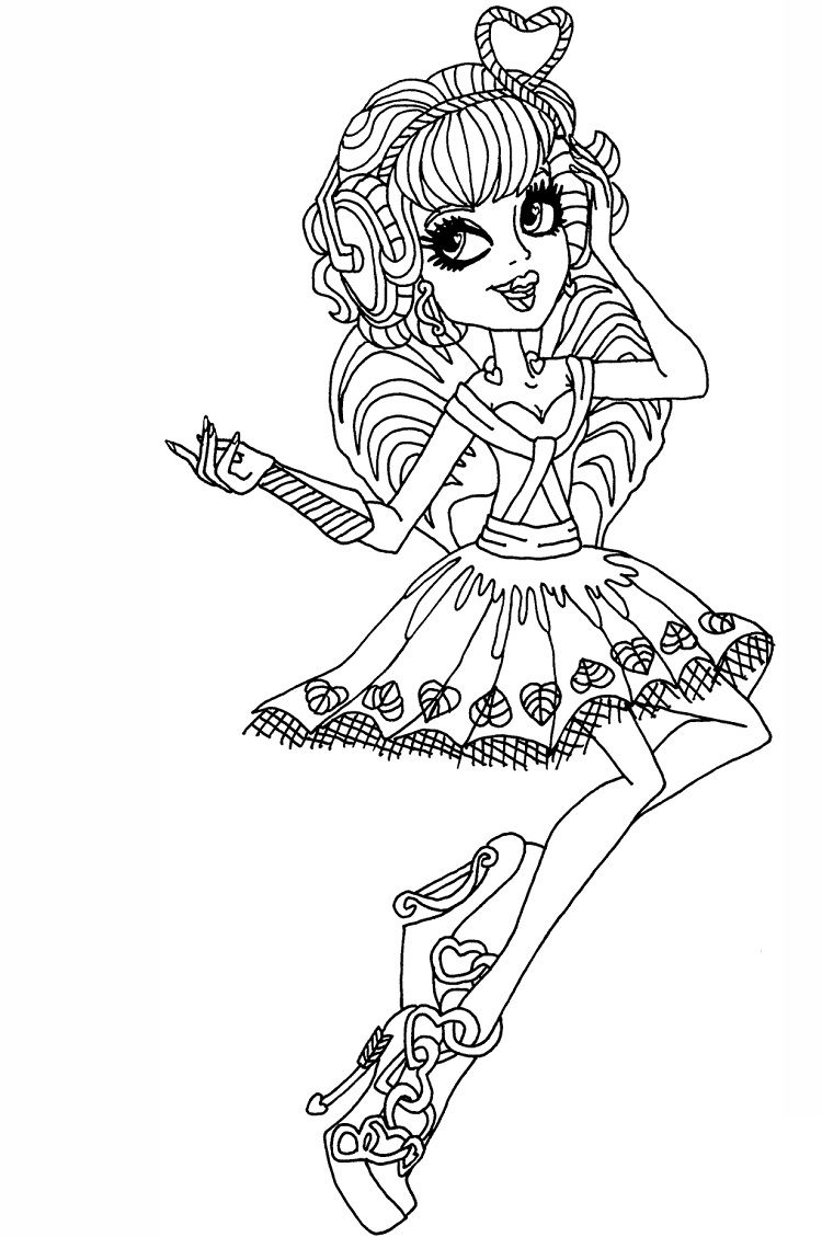 monster high coloring pages cupid | Coloring Pages For Kids ...