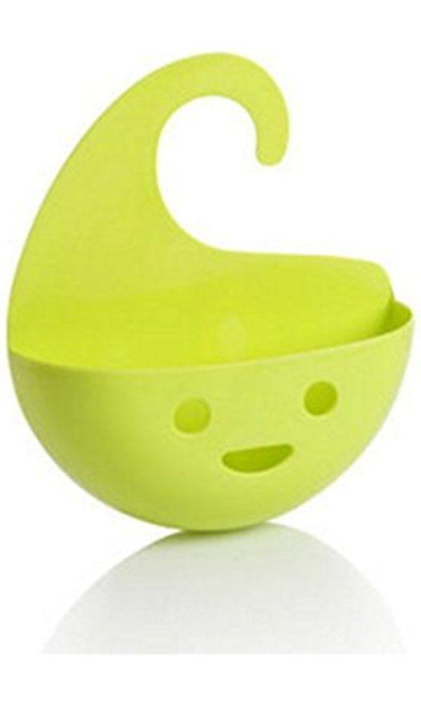Smile Face Creative Household Multifunctional Hanging Storage Basket Kitchen Bath Organizer by MarbellStore (green) Best Price