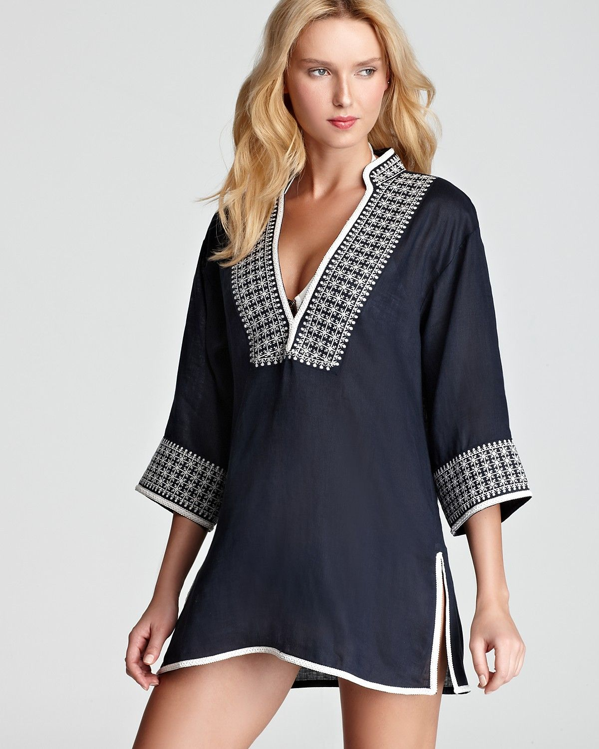 ae6a76d32a236 Tory Burch Pearl Tunic Swim Coverup | Bloomingdale's | Fashion ...