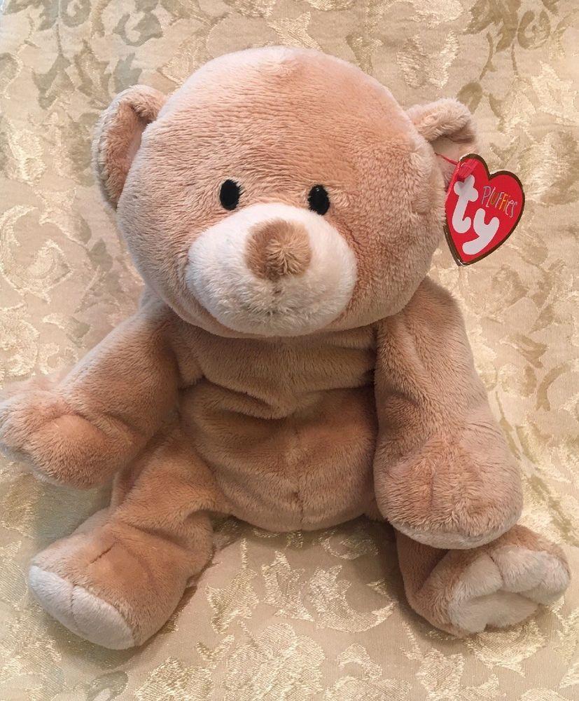 10 New Ty Beanie Pluffies 2010 Woods Teddy Bear Plush Stuffed Animal Tan Nwt Ebay Teddy Bear Plush Plush Stuffed Animals Teddy Bear [ 1000 x 827 Pixel ]