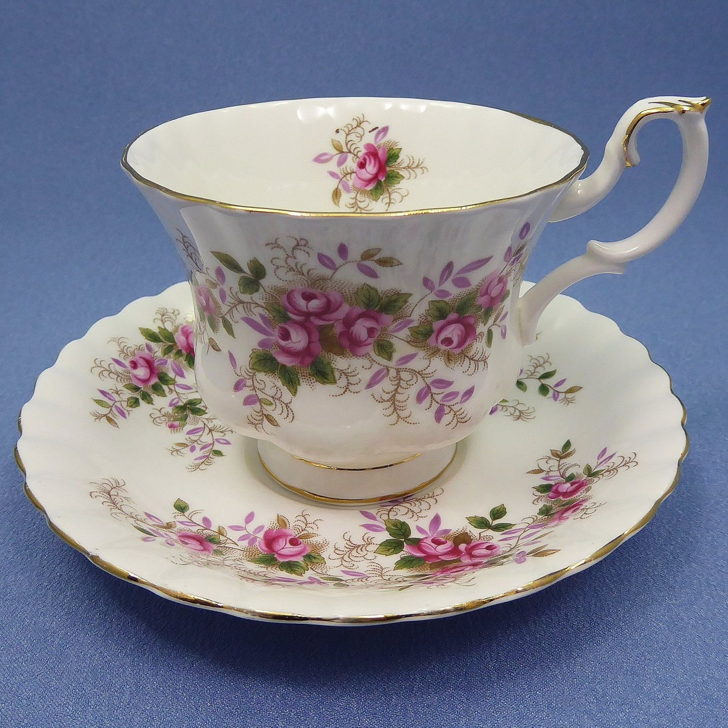 Soup Cup and Saucer /'Lavender Rose/' Royal Albert