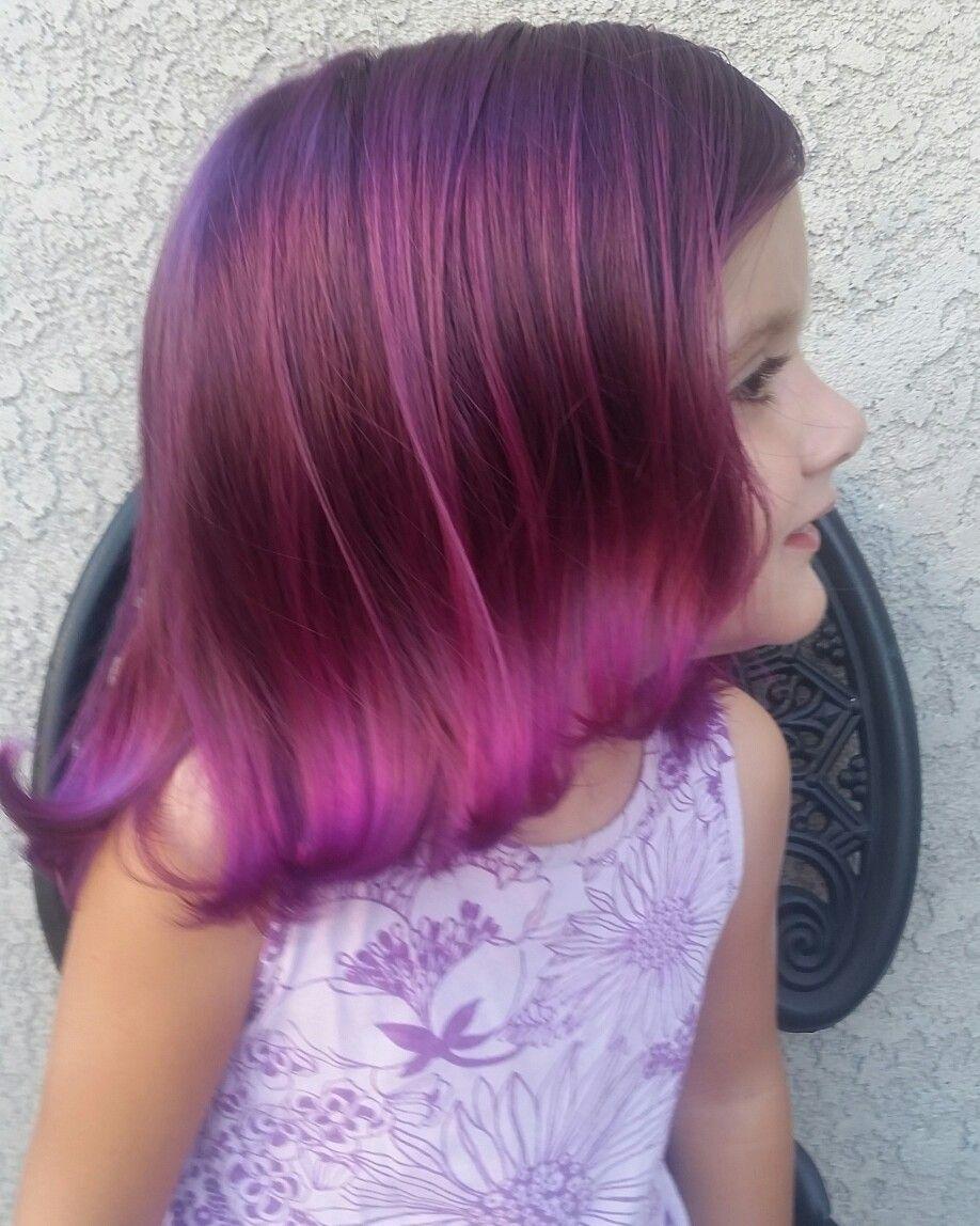 Purple Hair Don T Care Manic Panic Purple Haze Cleo Rose Hadlie Thora Age 2 5 Purple Hair Kids Hair Color Manic Panic Purple Haze