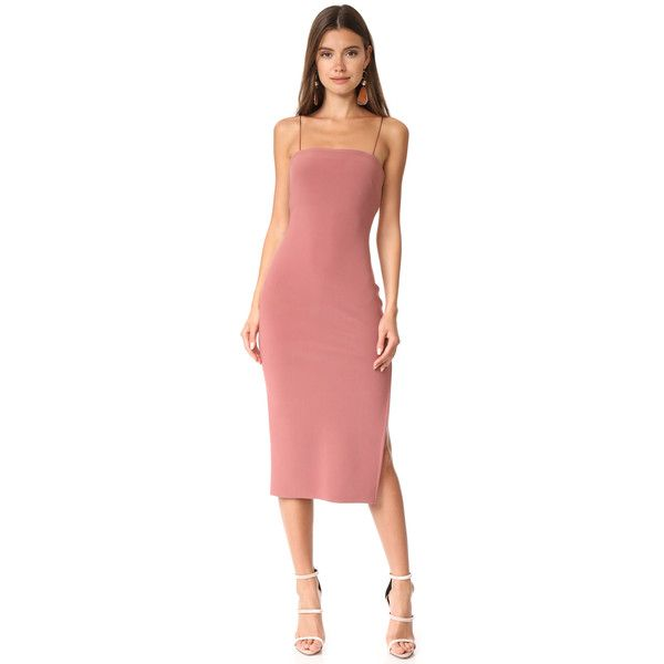 461a9ebc Bec & Bridge Love Ruler Midi Dress (292 AUD) ❤ liked on Polyvore featuring  dresses, lipstick, zip dress, red jersey dress, open back midi dress, ...